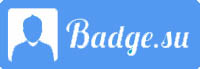 logo badge su blue